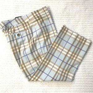 Auc Burberry Nova Check  Cropped  Pants
